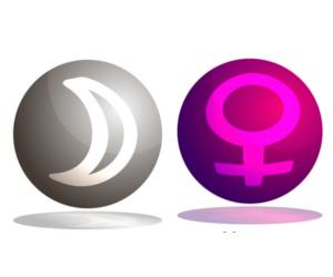 「月」と「金星」のアスペクト!~占星術的な意味~