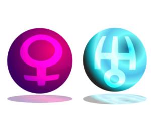 「金星」と「天王星」のアスペクト!~占星術的な意味~
